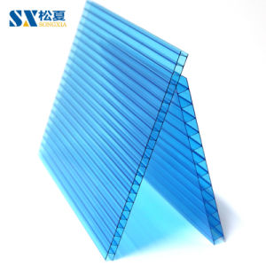 Résistant aux UV mur creux Feuille de polycarbonate double couche