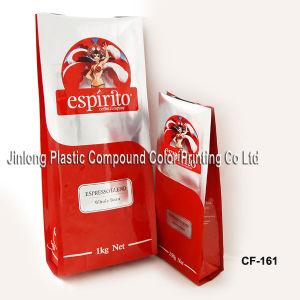 Coffee와 Custom Printed를 위한 쿼드 Sealed Plastic Bags