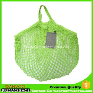 Bolsa de red de algodón verde de las frutas vegetales (Aceptar personalizado)