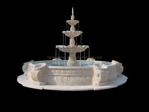 3 Fontein van de Tuin van het Water van de Steen van de Steen van de Laag van de rij de Openlucht Tiered Marmeren (XF400)