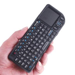 miniToetsenbord van PC 2.4GHz 2.4g het Draadloze Rii met Touchpad - Zwarte