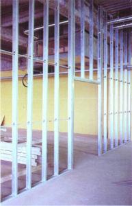 Perfiles de acero galvanizado de pared de yeso Yeso
