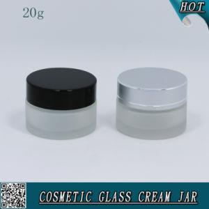 表面クリームのための20ml曇らされたガラス容器の空のガラス瓶