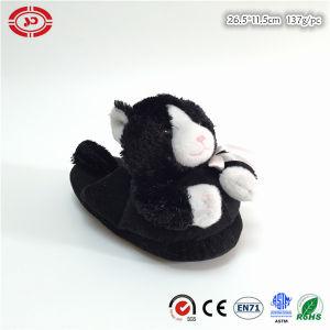 Poo forma personalizado cara feliz nuevo diseño de calzado zapatillas de felpa