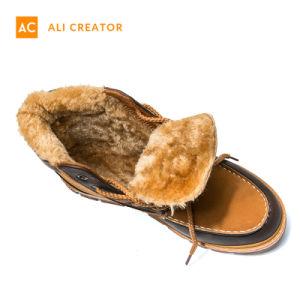 2019 Laarzen van de Sneeuw van de Winter van de Mensen van de Laarzen van de Enkel van het Leer van de winter Pu de Waterdichte