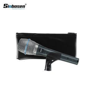 Microfoon van de Condensator Supercardioid van Sinbosen Beta87A de Handbediende Getelegrafeerde