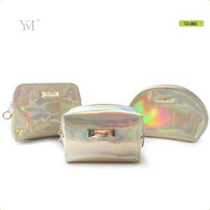 Curso Novos Produtos personalizados brilhantes couro PVC Saco de maquiagem Cosméticos