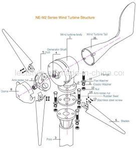 Prarieの使用のためのAC 500W高性能の風発電機