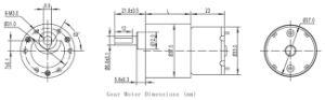 12V DC alto torque a bajas revoluciones el motor eléctrico para refrigerador