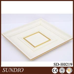 食堂の装飾的で白いカラー木製のプラスチック合成のCofferedの天井