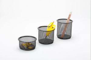 책상 품목 금속 메시 문구용품 연필 홀더 사무실 책상 부속품