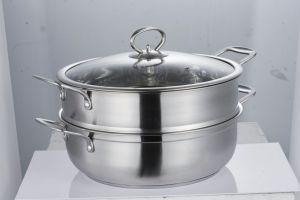 Pot van de stoomboot van cookware van het roestvrij staal van het