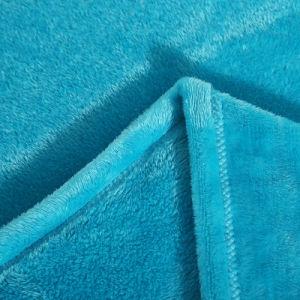 最も売れ行きの良いポリエステル固体明白な羊毛毛布