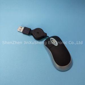 Heißes einziehbares Kabel Mini-USB-Maus