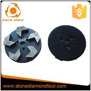 La rifinitura del pavimento di 5 della freccia segmenti di figura lavora il disco di molatura del metallo
