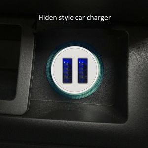 2019 Nouveau haute vitesse Chargeur de téléphone mobile universel Logo personnalisé Chargeur de voiture USB avec LED