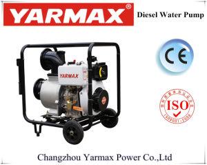 De draagbare Diesel van het Gebruik van het Landbouwbedrijf Pomp van het Water met Wielen