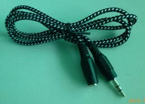 3.5mm Mann 3.5mm zum weiblichen Extensions-Kabel Hts-008-3.5f