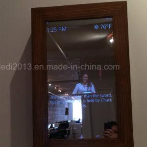 stand 32 '' 42 '' 55 '' 65 '' 75 '' 80 '' ou miroir magique fixé au mur annonçant l'étalage
