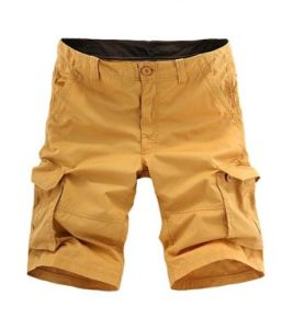 Shorts Pocket del carico di misura allentata del cotone degli uomini di modo multi