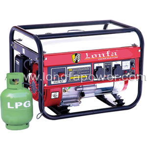 二重用途2.5kw自然なガソリンLPG発電機セットの価格