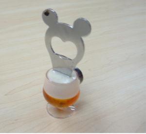Oferta promocional de plástico de alta qualidade 3D abridor de garrafa de PVC (BO-028)
