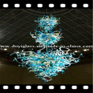 Hermoso candelabro de vidrio soplado multicolor de iluminación para la decoración del hotel