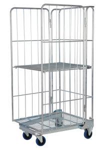 Metalllogistischer Maschendraht-Lager-Rollenrahmen-Laufkatze-Rollenbehälter