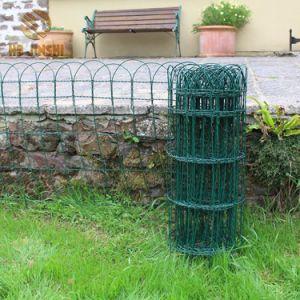 400mmの高い緑PVC上塗を施してあるボーダー塀