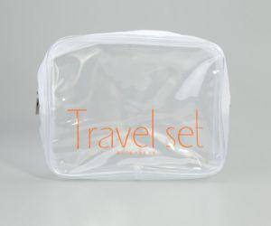 40cb1d761 Bolsa de aseo mayorista transparente de PVC transparente con cremallera  caso maquillaje cosméticos bolsa
