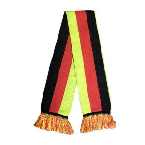 독일 깃발 겨울에 의하여 뜨개질을 하는 스카프 (JRI046)