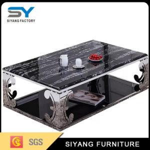 Mesa de vidro temperado de mobiliário moderno mesa lateral mesa de chá