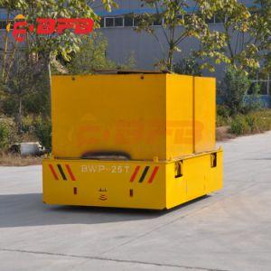 Controle remoto de transporte de oficina de direção das rodas de borracha Automática Trackless Carro de Transferência