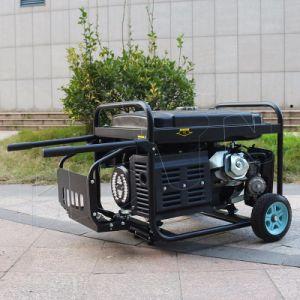 Bison (Chine) BS4500P (H) 3kVA facile à démarrage électrique se déplacer avec les roues de l'essence de la came 3kw générateur en mode silencieux