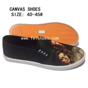 Última moda para hombres 3dprinting patinan en los zapatos de lona (DL16122-5)