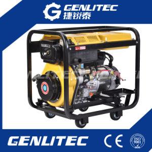 Luft abgekühlter Diesel-Generator des einzelner Zylinder-elektrischer Anfangs6kw
