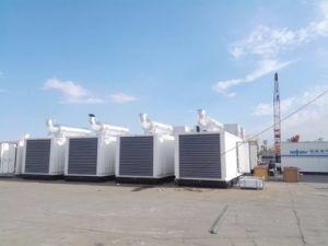 高層建築のための120 KVAのディーゼル無声発電機