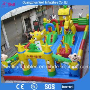 Parque de Atracciones inflables gigantes para niños Parque infantil exterior hinchables Combo hinchables