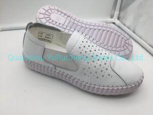 Moda casual de cuero para mujer zapatos