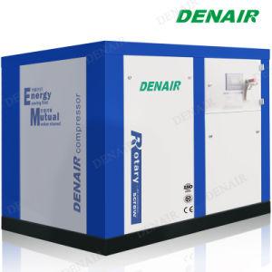 Refrigerado por agua de 125 Psi de acoplamiento lubricado con aceite del compresor de aire de tornillo