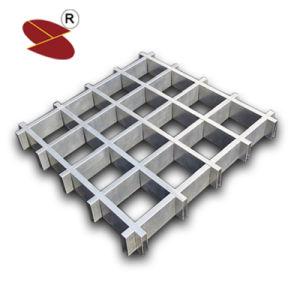 La Chine Hot Sale Moistureproof enduit de poudre de matériaux de construction du plafond de la grille d'aluminium 100mm*100mm