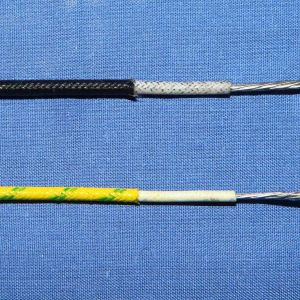 Malla de fibra de vidrio aislante de caucho de silicona cable