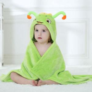 Abito incappucciato caldo del poncio della coperta dell'accappatoio del bambino unisex