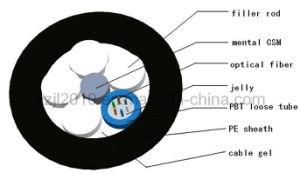 Conduta e antena exterior Gyfy Cabo de fibra óptica monomodo