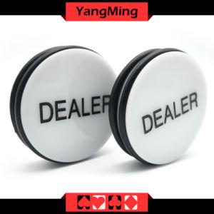 Bouton de revendeur de poker Texas Sculputre Big Blind/petit Bilnd bouton de revendeur de Nacre bouton Shell (YM-DR01)