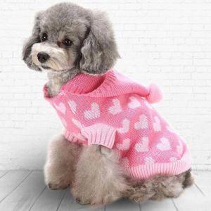 Chien de compagnie pullover Hoodie Puppy Knitwear pour petit chien Vêtements