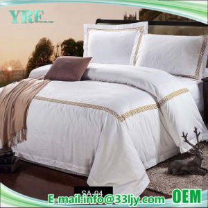 ホテルの供給の安い綿の寝具はホテルのアパートのためにセットした