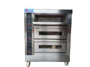 China Máquina de panadería hornear pan eléctrico horno cubierta