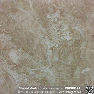 フォーシャン中国の灰色の建築材料の艶をかけられた大理石の磨かれた磁器のフロアーリングの壁のタイル(600X600mm、VRP6D079)