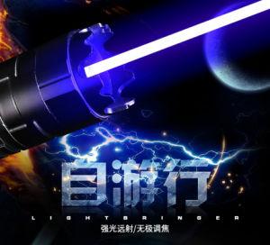 マルチ停止しなさい高い発電5W青いライトレーザーポイント懐中電燈(SYSG-258)を